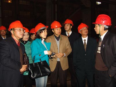 A cement company in Vietnam visited pengfei production site